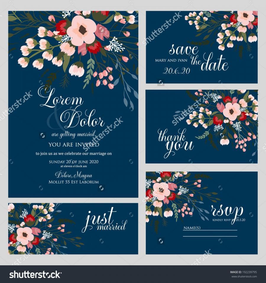 Wedding - Wedding invitation card