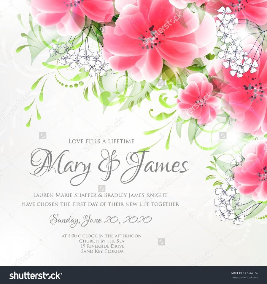 Wedding card or invitation with abstract floral background greeting wedding card or invitation with abstract floral background greeting card in grunge or retro style elegance seamless pattern with flowers roses m4hsunfo