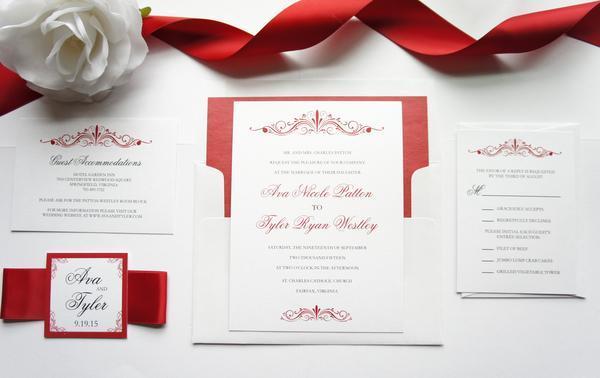 Red Wedding Invitation Sample Set 2579075 Weddbook