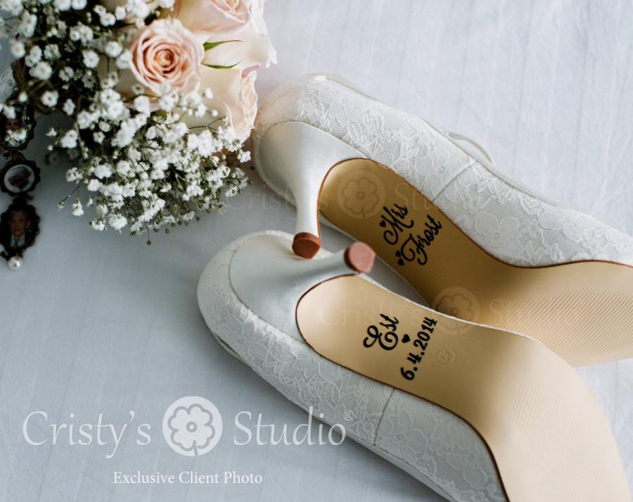 Hochzeit - Wedding Shoe Stickers / Wedding Shoe Decals