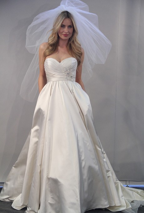Mariage - Watters - Fall 2012 - Roxanne Strapless Silk Satin Ball Gown Wedding Dress with Sweetheart Neckline and Beaded Detail - Stunning Cheap Wedding Dresses