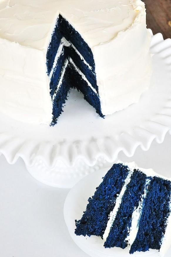Wedding - Blue Velvet Cake