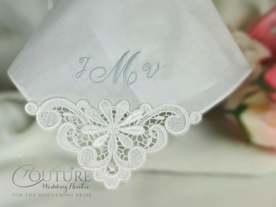 Hochzeit - Mother of the Bride Wedding Handkerchief Hankie Personalized Hanky