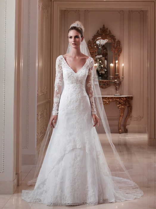 Casablanca bridal 2079 long sleeve wedding dress crazy for Wedding dresses with sleeves for sale