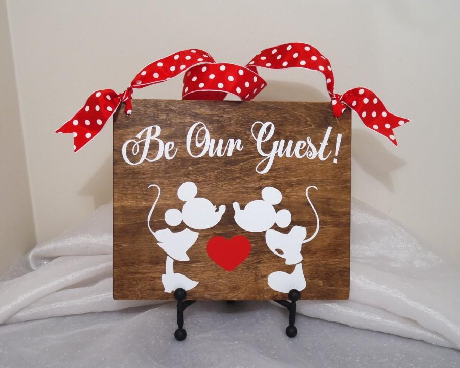 Mariage - Be Our Guest Mickey and Minnie Wedding Sign, Mickey and Minnie Wedding, Disney Wedding Sign, Be Our Guest Wedding Sign, Wedding Sign