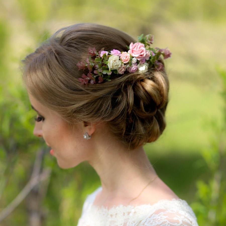 زفاف - Bridal hair comb, Wedding hair comb, Hair accessories, Bridal comb, Bridal headpiece, Flowers hair comb