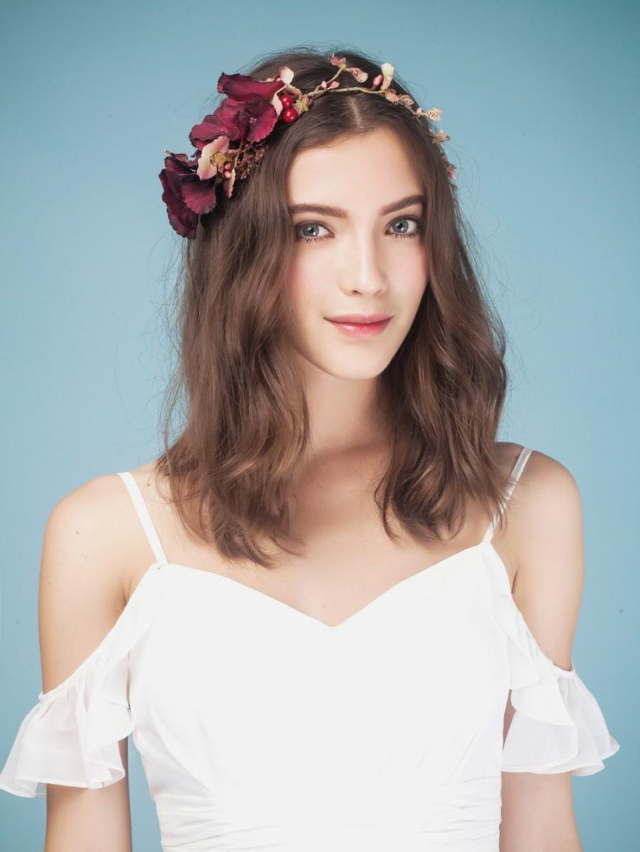 Red flower crown red headband red flower crown flower crown rose red flower crown red headband red flower crown flower crown rose crown flower headband wedding crown wedding headpiece flower crown izmirmasajfo
