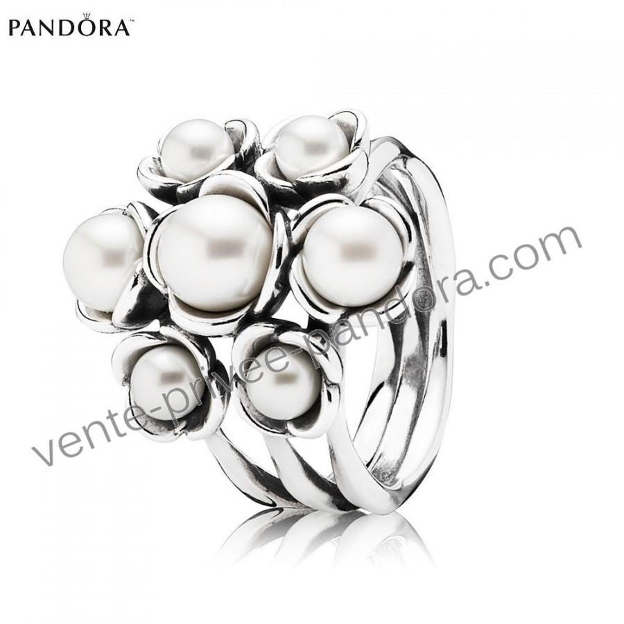 Bon Plans - Bijoux Pandora Bague Pas Cher Argent Floral De Perles p1031 a901fa208c33