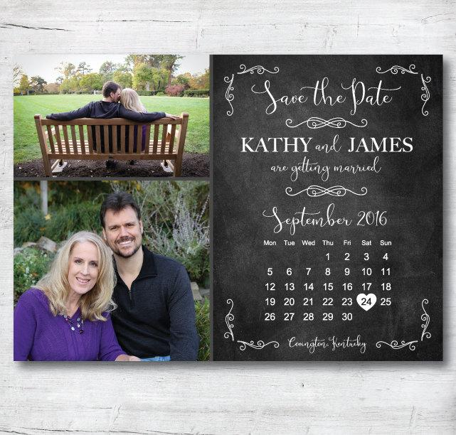 Mariage - Save the Date Template, Save the Date Printable, Rustic Save The Date, Save the Date Postcard, Template, Chalkboard Save the Date Template
