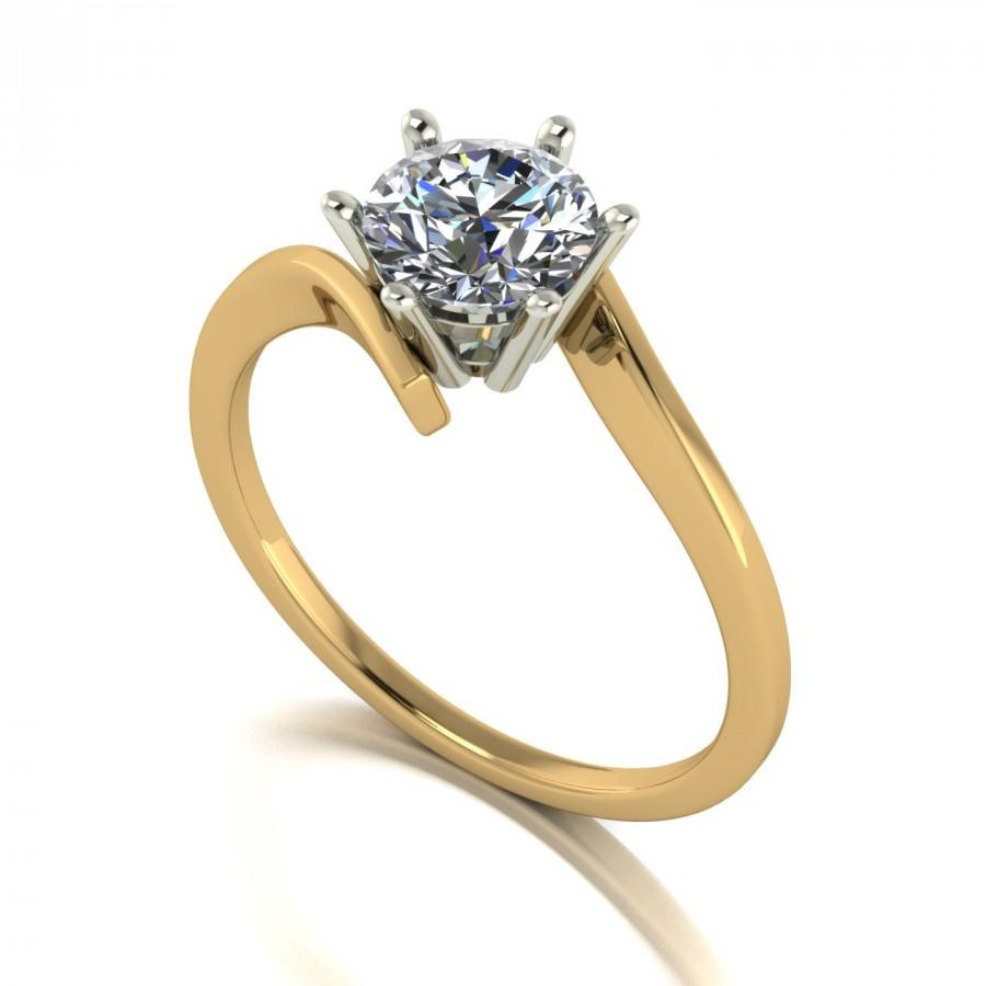 Mariage - 1.00ct Moissanite Engagement Ring in 9 Carat Yellow Gold