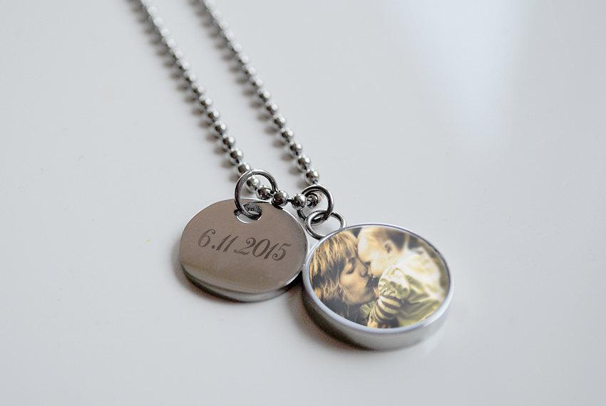 Свадьба - Mother of the Bride Gift Wedding Necklace Personalized Engraved Custom Mother of the Groom Gift Wedding