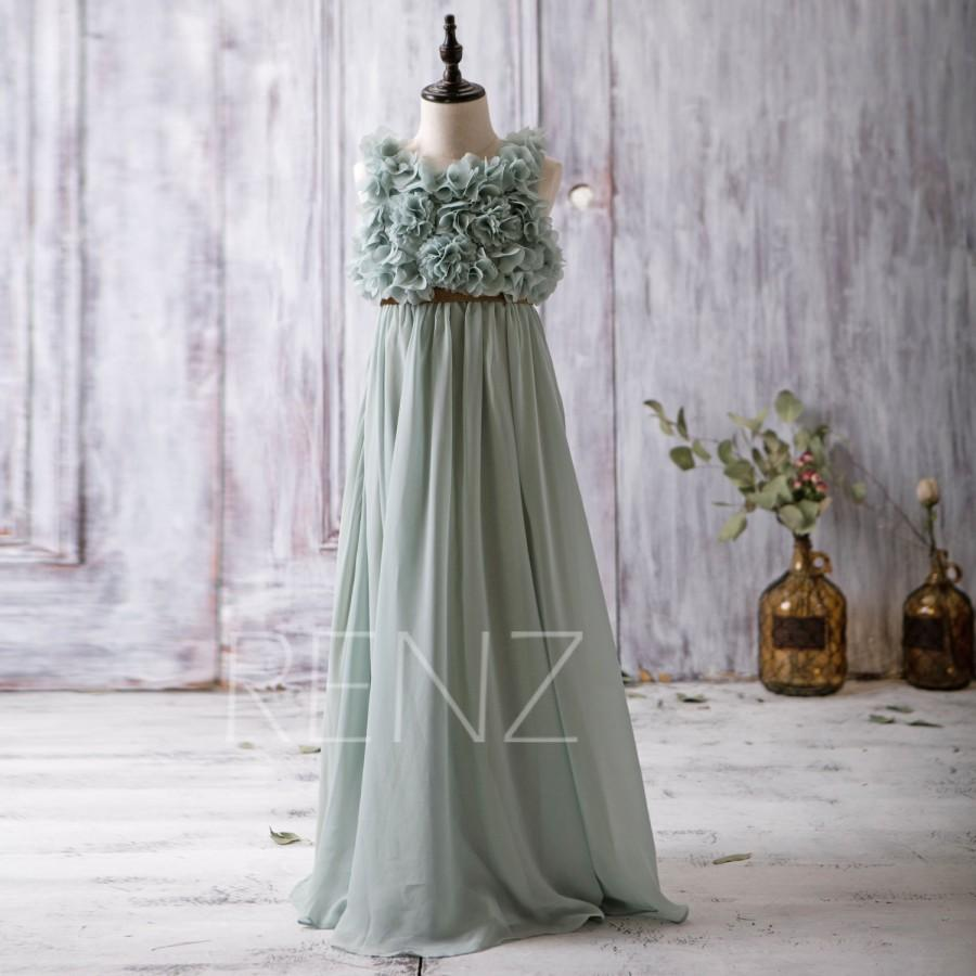 2016 dark mint junior bridesmaid dress empire waist flower girl 2016 dark mint junior bridesmaid dress empire waist flower girl dress rosette dress gold belt floor length jk006b ombrellifo Gallery