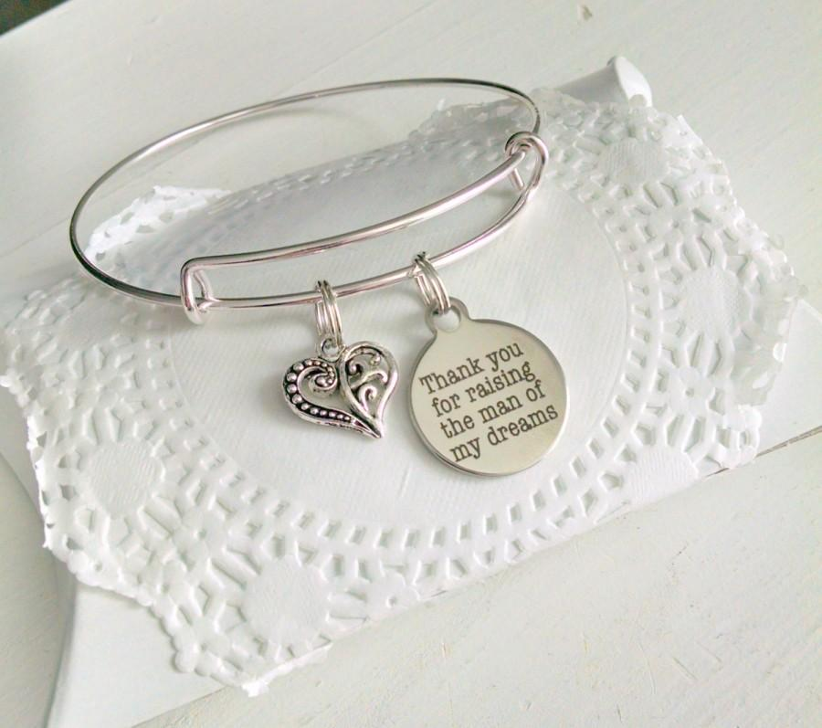 Hochzeit - Mother In Law, Mother Of The Groom Gift, Thank You For Raising The Man Of My Dreams, Mother In Law Bracelet