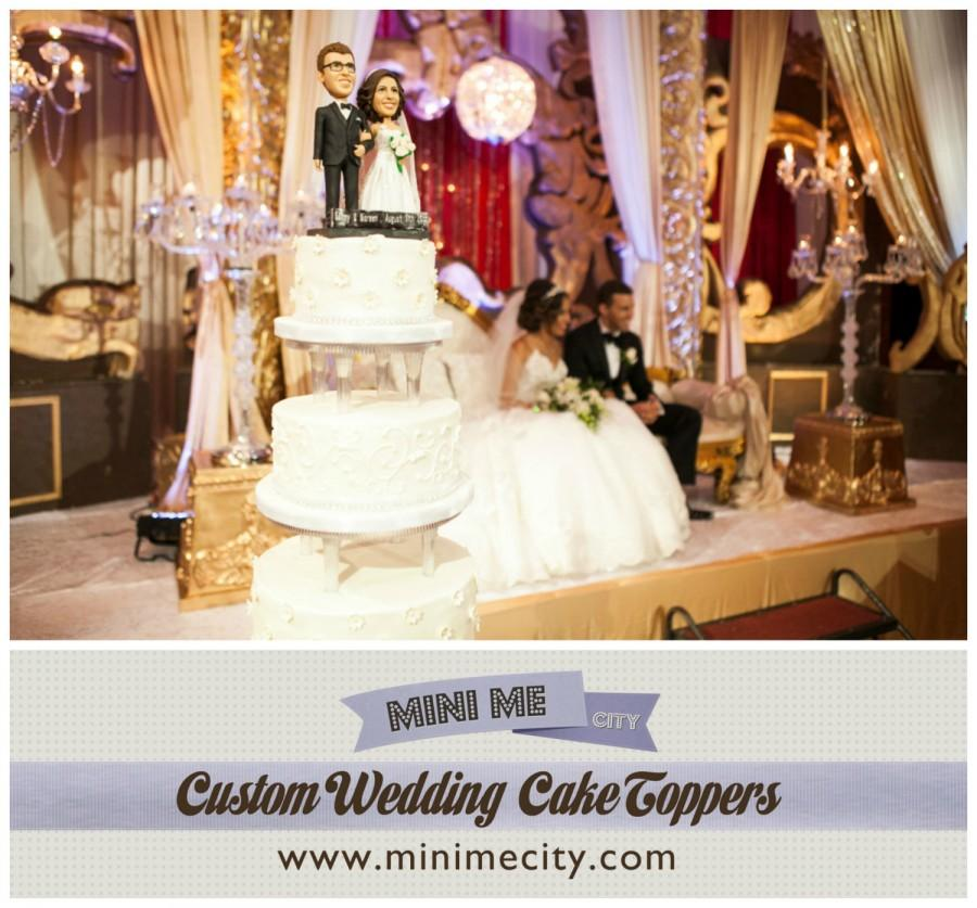 Wedding - Custom Wedding Cake Toppers - This listing includes the Bride and Groom