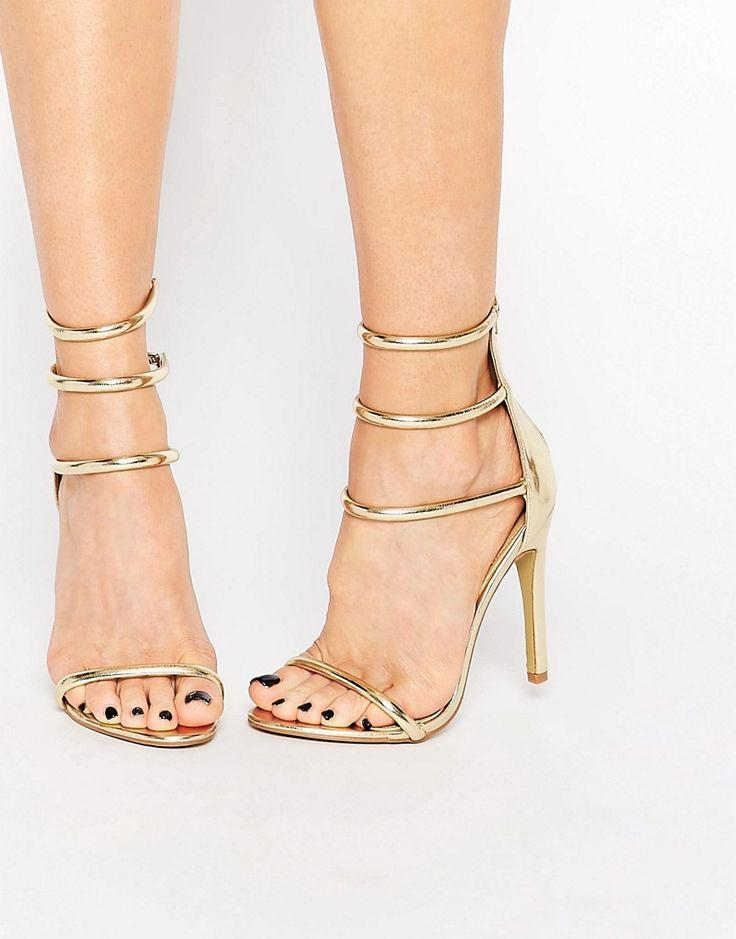 9bb6f5083c Public Desire Aisha Gold Strappy Heeled Sandal #2579683 - Weddbook