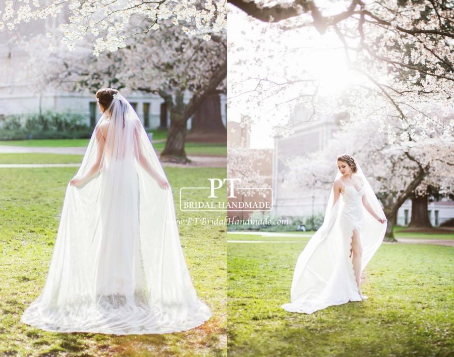 Свадьба - Lace Wedding Veil, One Tier Cathedral Lace Veil, Cathedral Length Lace Veil, Custom Lace Wedding Veil, Bridal Shower Gift