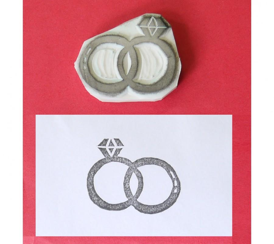 زفاف - Rings stamp - wedding rubber stamp, ring rubber stamp, handmade rubber stamp, handcarved rubber stamp, hand carved stamp, handcarved stamp