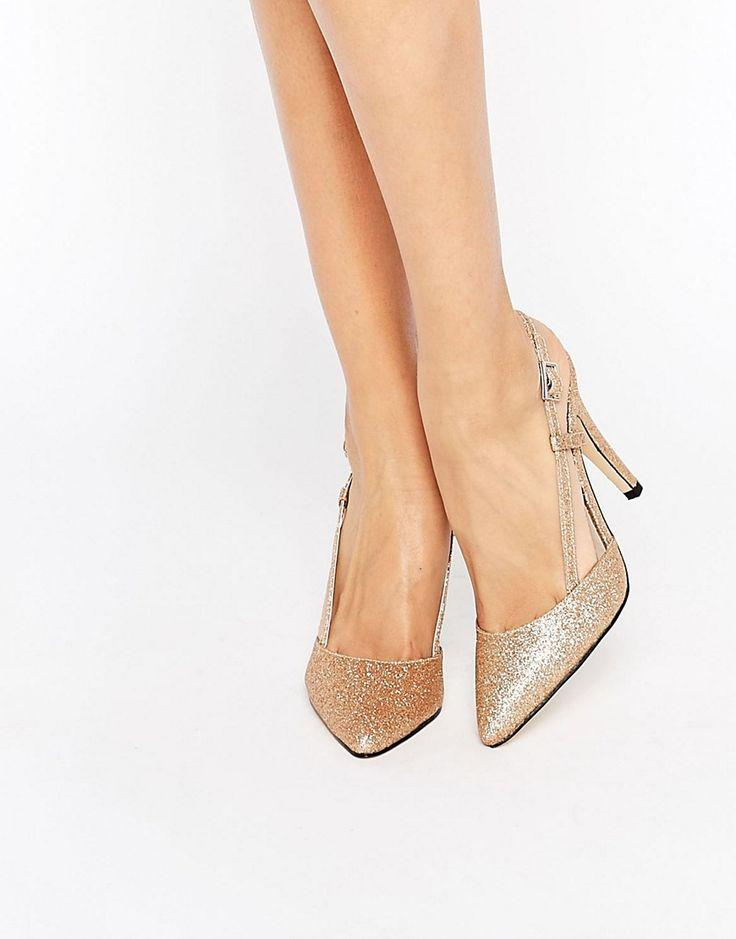 Hochzeit - True Decadence Cut Out Sling Heeled Shoes