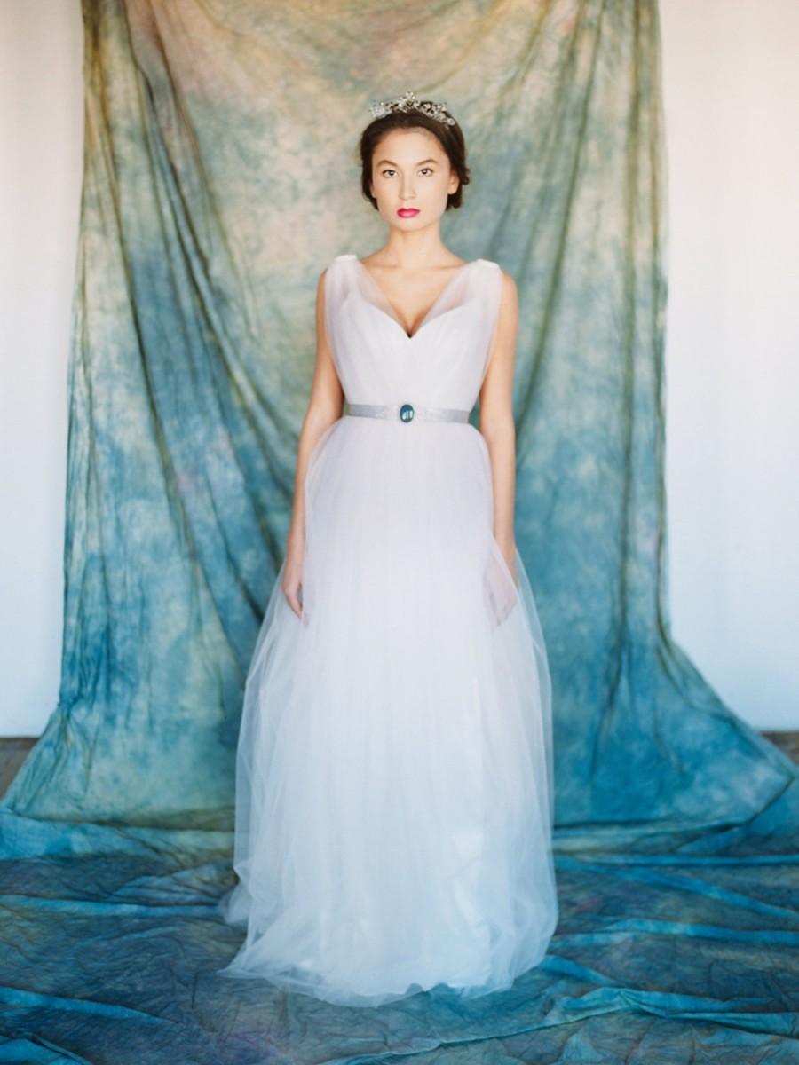 Lyra // Light Wedding Gown - A Line Wedding Dress - Light Pink ...
