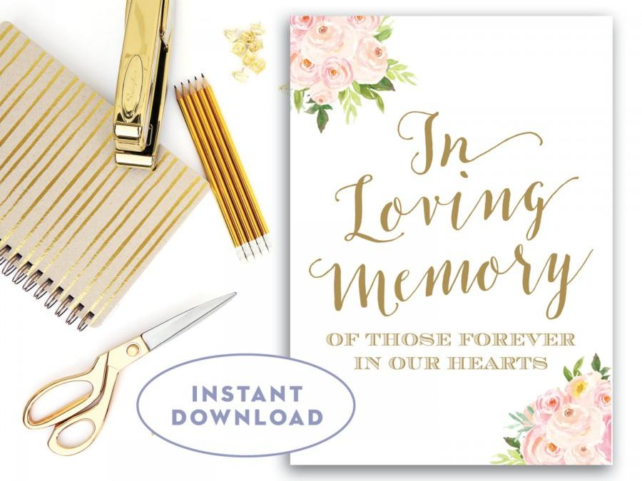 in loving memory sign 5x7, loving memory sign instant download, Powerpoint templates