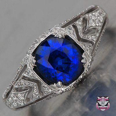 Свадьба - Antique Sapphire Engagement Rings