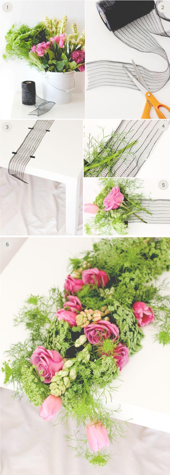 Свадьба - DIY Wedding: Fresh Floral Table Runner