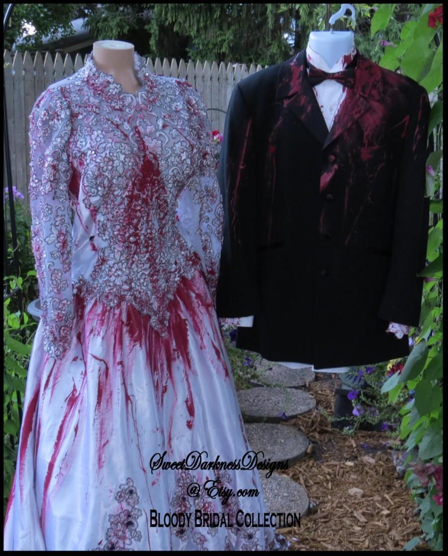 Свадьба - TUXEDO Coat Bloody Tuxedo Bloody Groom Zombie Groom Dia de Los Muertos Mens MULTI SIZE Halloween Corpse Groom by SweetDarknessDesigns