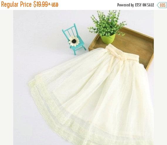 Wedding - Sale Flower girl dress, tulle skirt, Girls skirt, soft Tutu skirt, Lace  skirt, Custom made tulle skirt, Petti skirt, wedding tutu dress