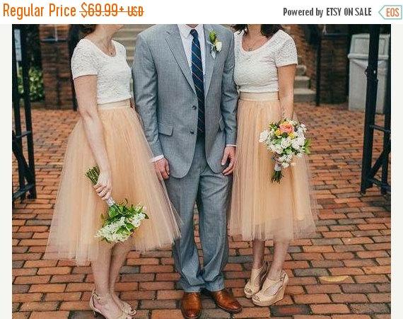 Wedding - Sale Adult Tulle Skirt , Blush tulle skirt , Ladies tutu dress, Custom dress, Tea length tulle skirt ,engagement tulle skirt, Wedding tulle