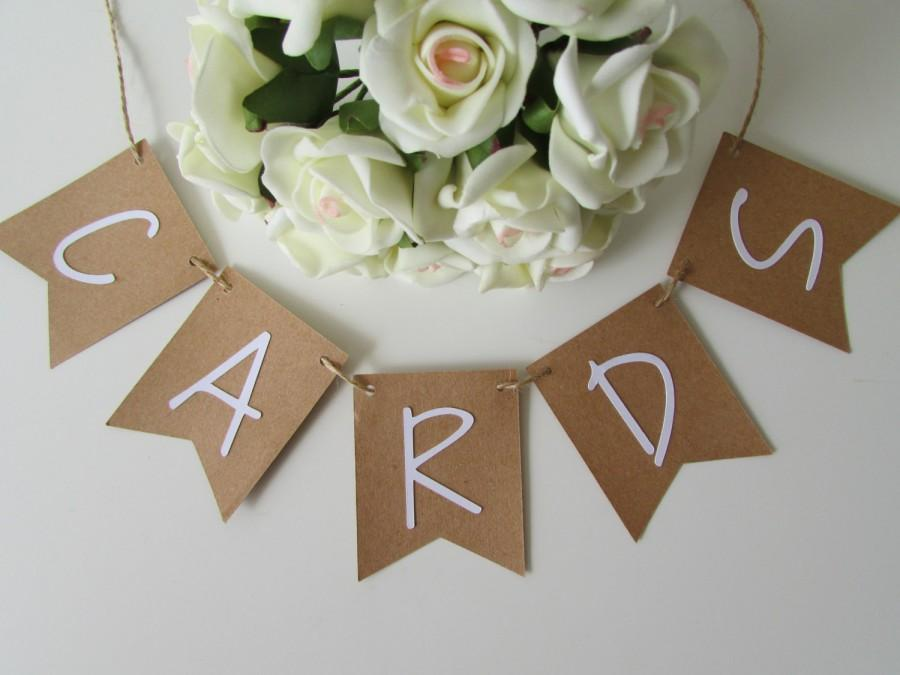 Wedding - Small Rustic Cards Banner