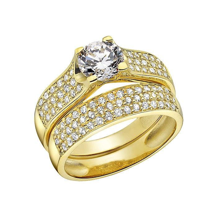 Gold diamond wedding rings for women