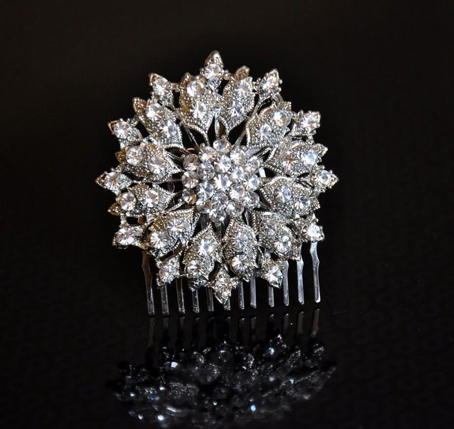 Свадьба - Bridal Comb , Bridal Hair Accessory,Bridal Hair Comb,Wedding comb, rhinestone bridal Hair comb, crystal  Bridal Haircomb