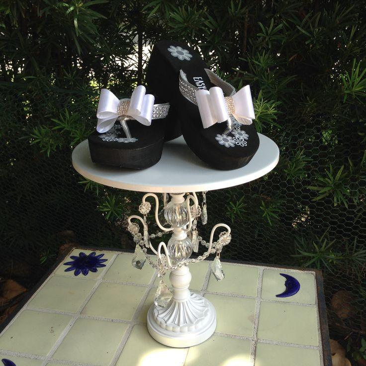 Düğün - Women's Wedge Platform Wedding Shoes With White Satin Bow
