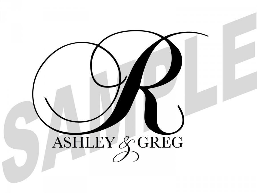 Hochzeit - Custom Designed Digital Printable Wedding Monogram Gobo Design