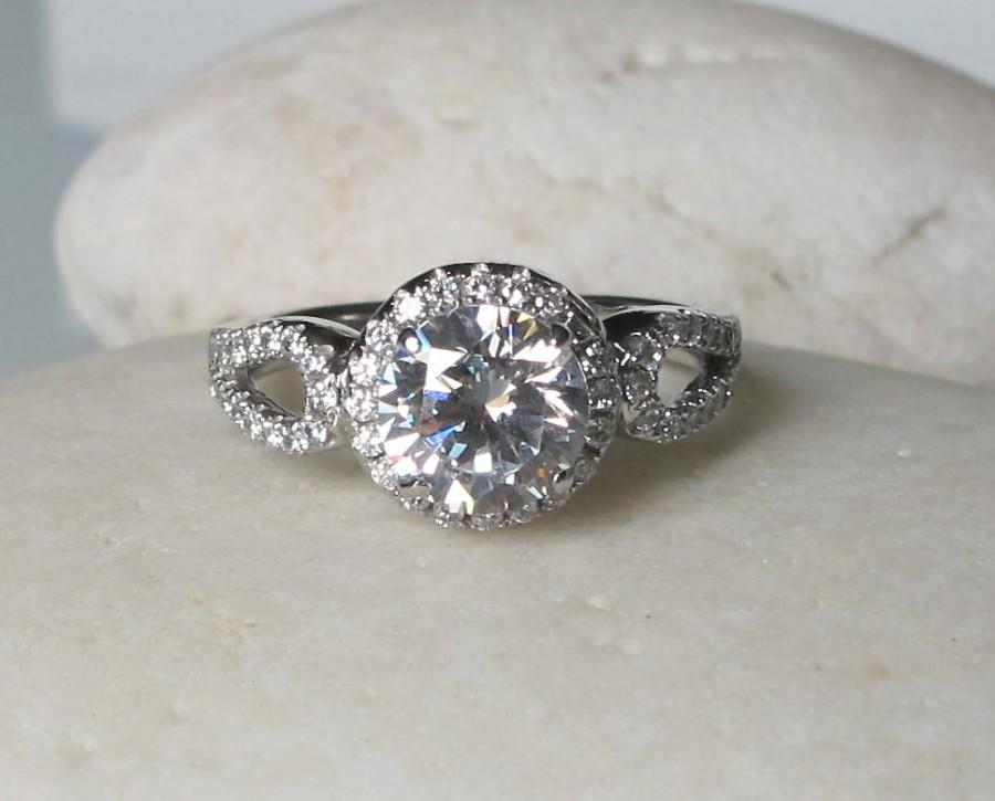 Mariage - 1.20cts Art Deco Engagement Ring- Unique Ring- Vintage Ring- Promise Ring for her- Antique Inspired Engagement Ring- Sterling Silver 925