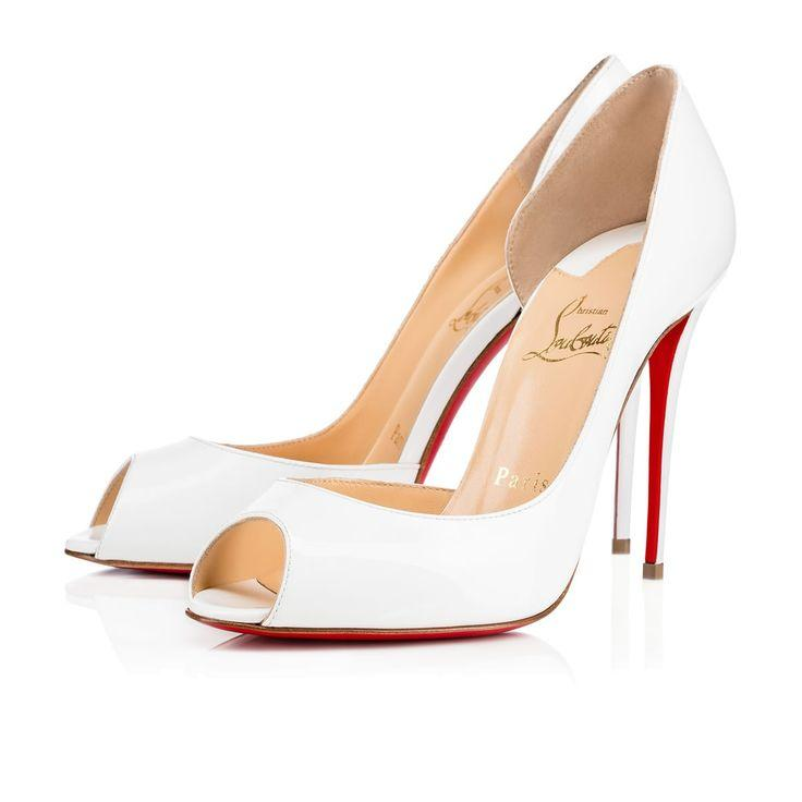 Hochzeit - Demi You 100 White Patent Leather - Women Shoes - Christian Louboutin