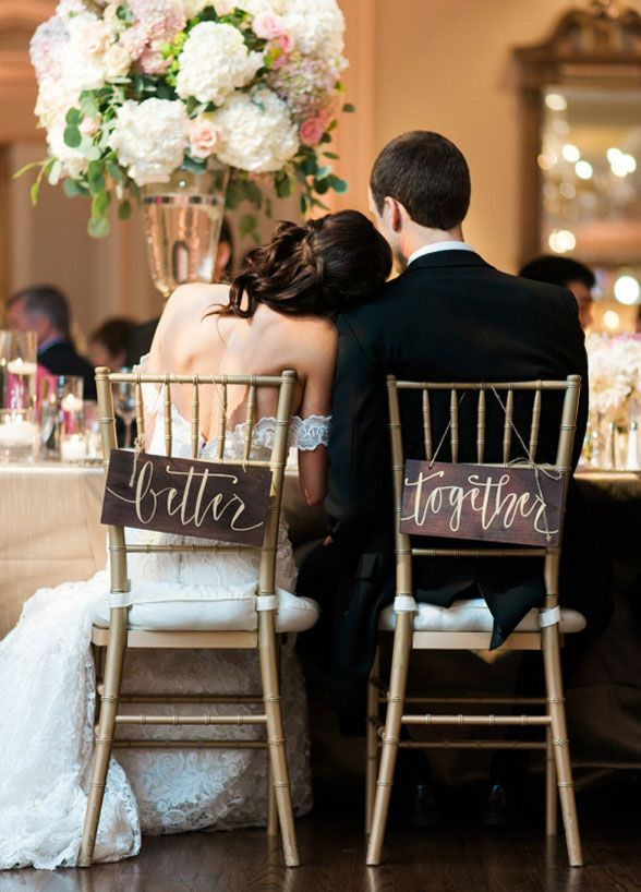 Mariage - 12 Ways To Dress Up Your Bride & Groom Chairs