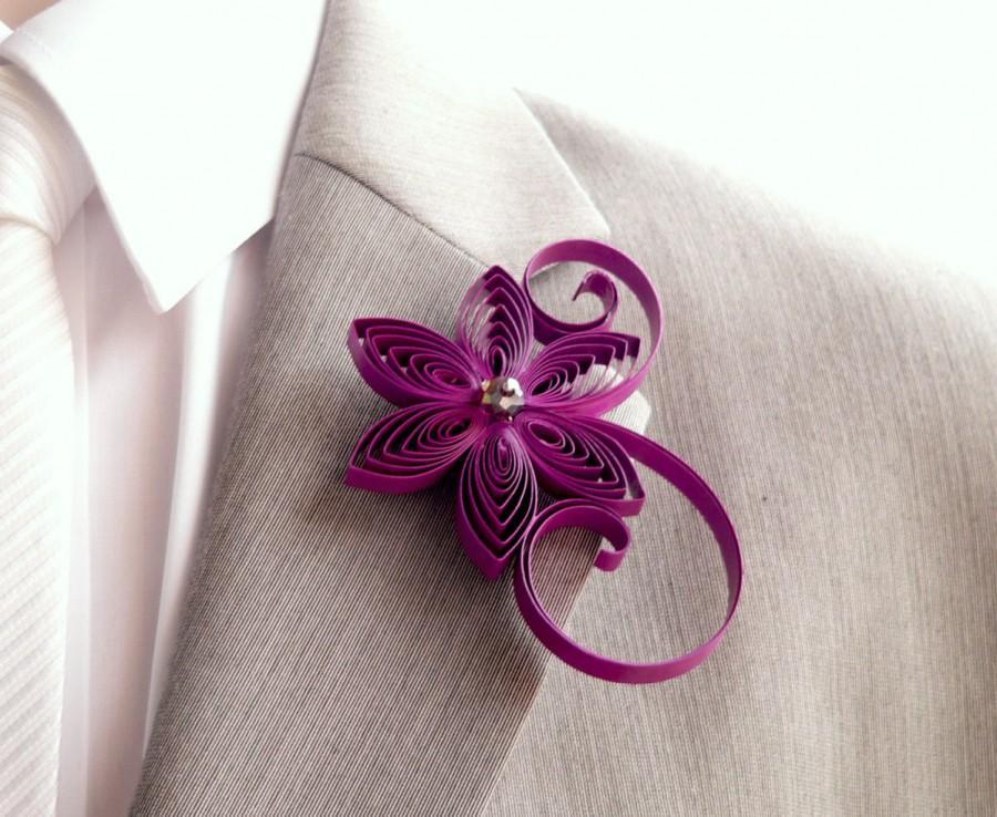 Mariage - Boutonniere, Cassis Boutonniere, Berry Buttonhole, Cassis Wedding, Mens Wedding Boutonnieres, Corsage for Men, Keepsake Wedding