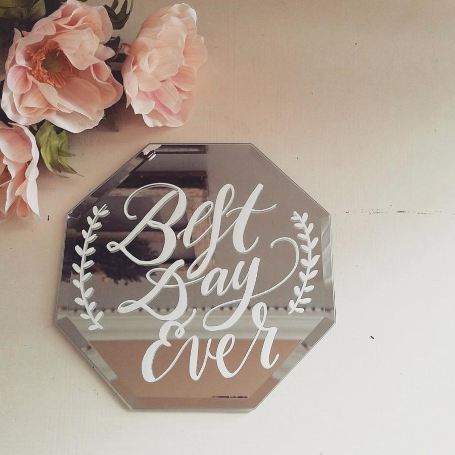 Mariage - Wedding Sign, Calligraphy Glass Mirror Sign, Rustic Vintage Glam Wedding