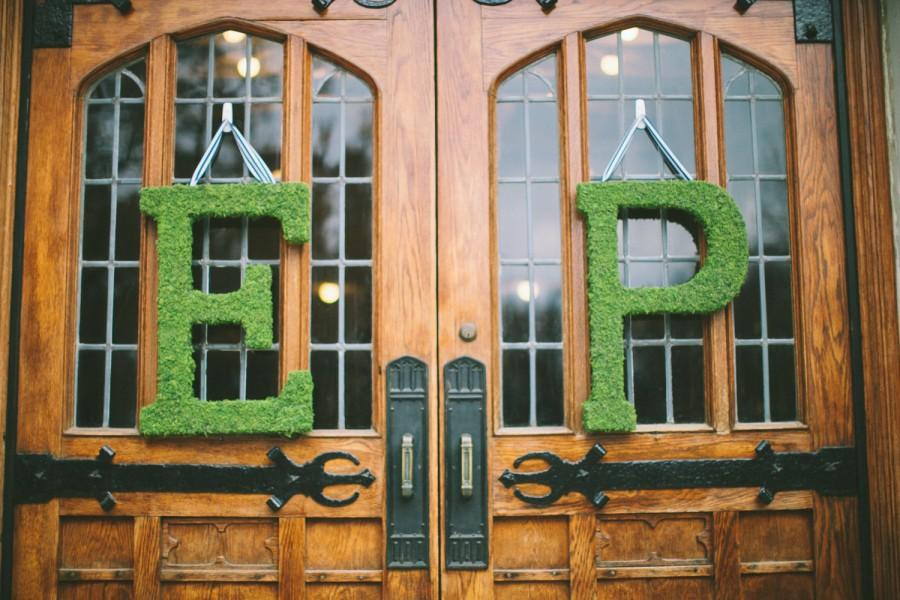 Mariage - 24 inch Moss Letter Moss Covered Monogram Letter-Moss Covered Letter Initial Wedding Home Door-I have made 100s of these