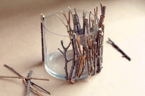Свадьба - Beautiful DIY Wood Sticks Candle Holders