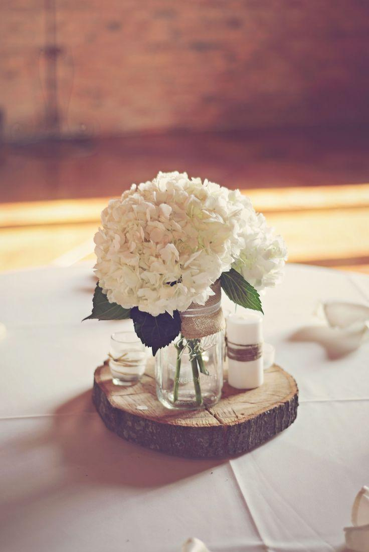 Decor DIY Hydrangea And Wood Round Centerpiece 2580981