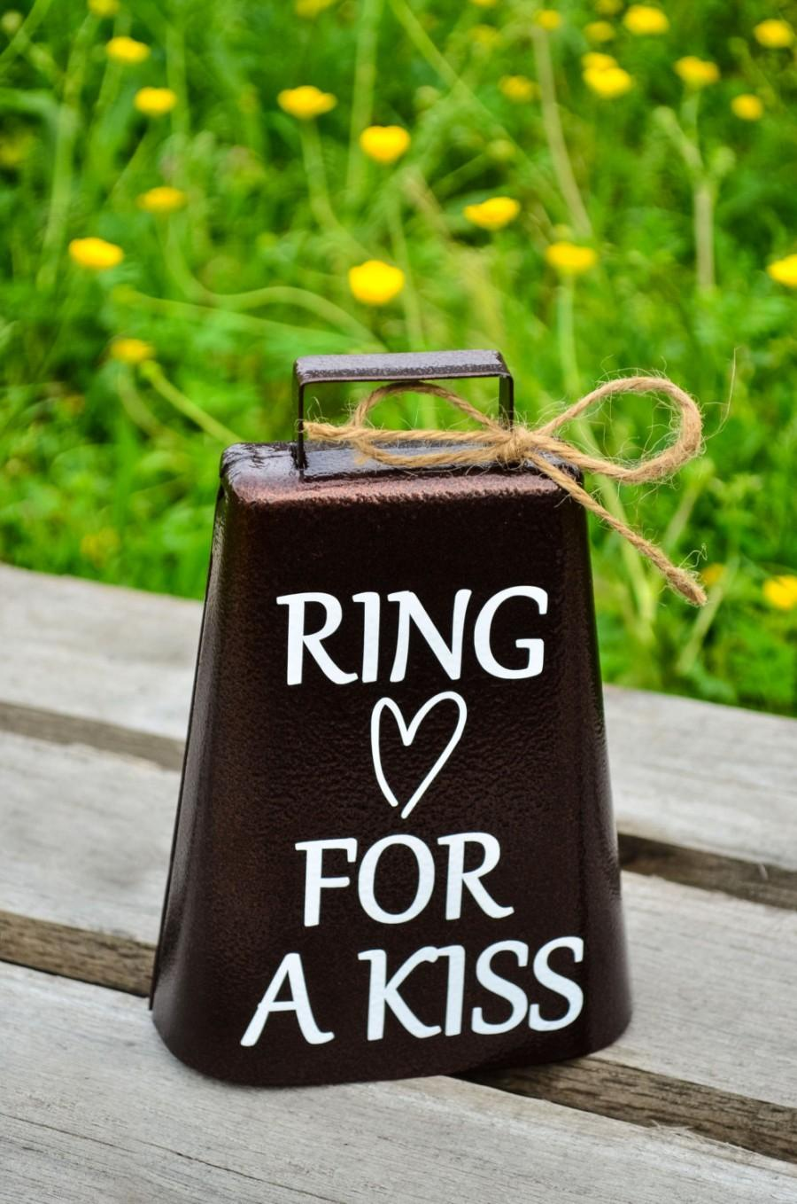 Ring For A Kiss Wedding Bell Rustic Vintage Barn Kissing Cow Country Decoration