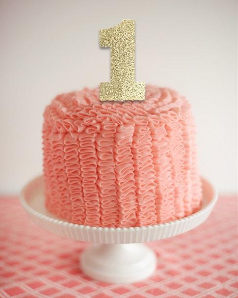 One Cake Topper 1 Cake Topper Gold Glitter 1st Birthday Party