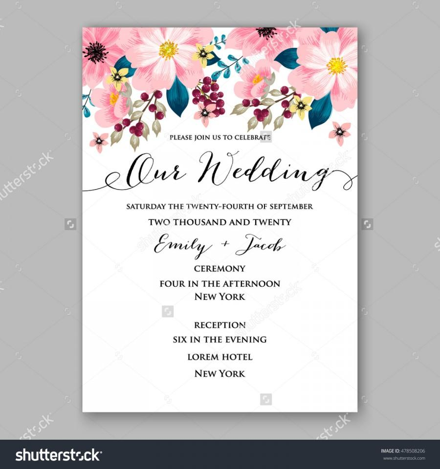 Poinsettia Wedding Invitation Sample Card Beautiful Winter ...