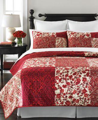 Wedding - Martha Stewart Collection Paisley Blocks Twin Quilt