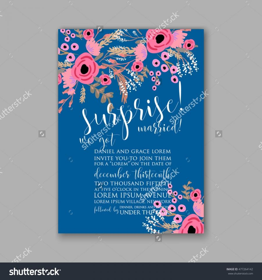 Wedding - Wedding invitation or card with tropical floral background. Greeting postcard in grunge retro vector Elegance pattern with flower rose illustration vintage chrysanthemum Valentine day card Luau Aloha