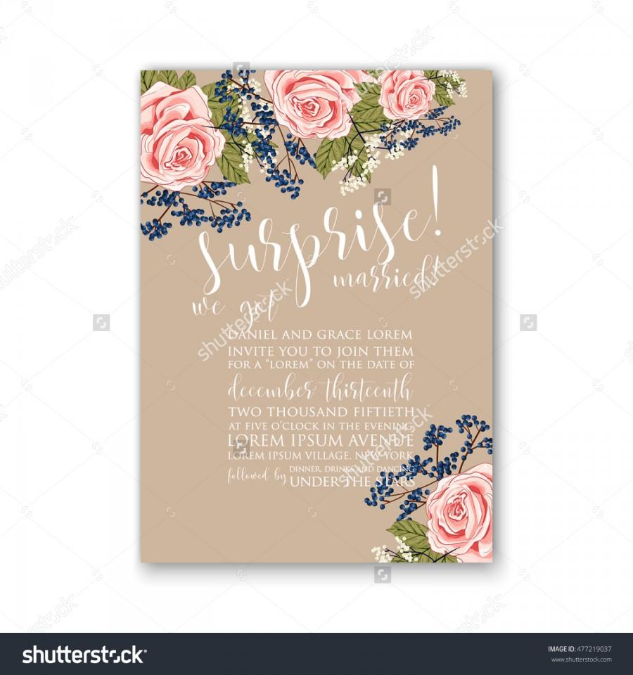 Wedding Invitation Or Card With Tropical Floral Background Greeting