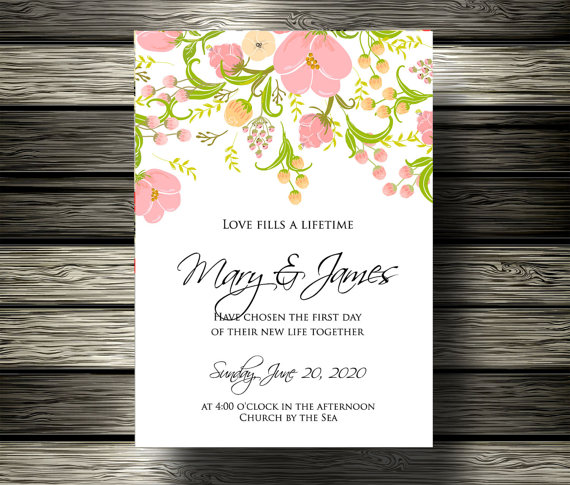 Only 5 00 Usd Wedding Invitation Bridal Shower Announcement