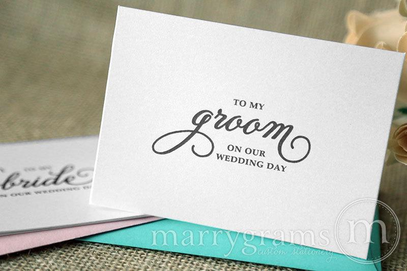 Wedding Card To My Bride Or Groom On Our Wedding Day Love Note To